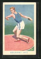 Künstler-AK Helsinki, Olympiade 1952, Diskuswerfer - Unclassified