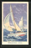 Künstler-AK Helsinki, Olympiade 1952, Segelsport - Unclassified
