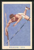 Künstler-AK Helsinki, Olympiade 1952, Stabhochspringer - Unclassified