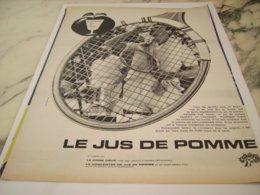 ANCIENNE PUBLICITE JUS DE POMME 1961 - Posters