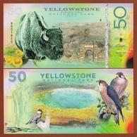 YELLOWSTONE National Park (USA) 50 Dollars 2018 Polymer UNC - Banknoten