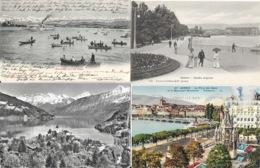 Lot N° 96 - 100 Cartes De Suisse - Villes, Villages, Lacs, Montagnes, Stations, Quelques Animations - Cartes Postales