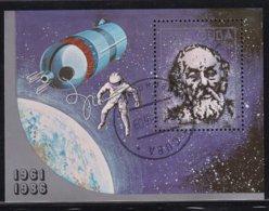 Cuba 1986, S/s Space, Miblock 94, Vfu. Cv 4 Euro - Blocs-feuillets