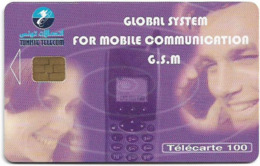 Tunisia - Tunisie Telecom - Global System For Mobile Comm., 100Units, Chip Orga, 01.2001, 100.000ex, Used - Tunisie