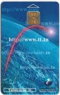 Tunisia - Tunisie Telecom - Internet, 50Units, Chip Oberthur, 09.1998, 30.000ex, Used - Tunisie