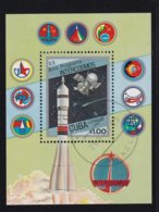 Cuba 1987, S/s Space, Miblock 98, Vfu. Cv 3,60 Euro - Blocs-feuillets