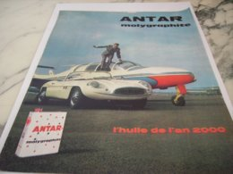 ANCIENNE PUBLICITE MOLYGRAPHITE  ANTAR 1961 - Other
