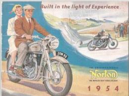 Livret Publicitaire Norton 1954 - Motor Bikes