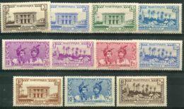 Martinique (1939) N 175 à 185 * (charniere) - Martinique (1886-1947)