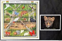 # Ghana 1990**Mi.1407-27  Fauna Of The African Rainforest ,MNH  [23;77] - Briefmarken