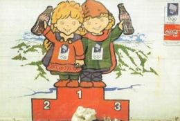 Publicité Coca-cola - Olympic Odyssey - Podium Pour Les Jeux Olympiques De Lillehammer 94 - Carte Non Circulée - Postales