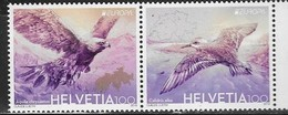 SWITZERLAND, 2019, MNH, EUROPA, BIRDS, EAGLES, MOUNTAINS,  2v - 2019