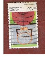 ISRAELE (ISRAEL)  - SG 962  - 1985 MACCABIAH GAMES: BASKET    - USED ° - Usati (senza Tab)
