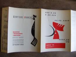 Année 60  1 Protège Cahier COMPTOIRS FRANCAIS EMBLEME LE COQ  -  REIMS - Mappe