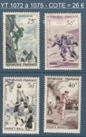 069- Timbres YT 1072 à 1075 - Série Sportive - 1956 - France