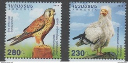 ARMENIA, 2016, MNH, BIRDS, BIRDS OF PREY,2v - Eagles & Birds Of Prey