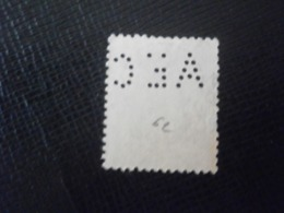 FRANCE TIMBRE SAGE 90 AEC 62 PERFORE PERFORES PERFIN PERFINS PERFO PERFORATION PERFORIERT LOCHUNG PERFORATI - Perforés