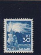 Italien 1945 Michel Nr. 702 *, 30 Lire, Ungebraucht, Michel 225.- Euro - 4. 1944-45 Social Republic