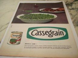 ANCIENNE PUBLICITE NOUVELLE LIGNE  CASSEGRAIN 1961 - Posters