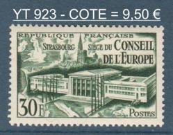 072- Timbre YT 923 - Siège Conseil De L'Europe Et Cathédrale De Strasbourg - 1952 - France