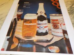ANCIENNE PUBLICITE BIERE KRONENBOURG 1961 - Alcohols