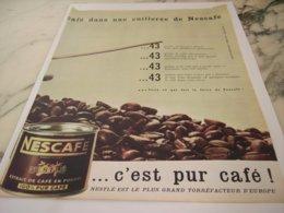 ANCIENNE PUBLICITE UNE CUILLERE DE NESCAFE 1961 - Posters