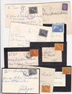 Portugal 9 Pequenos Envelopes Com Vários Carimbos - Marcophilie