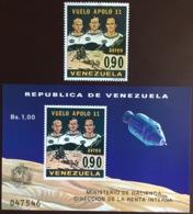 Venezuela 1969 First Man On The Moon Set & Minisheet MNH - Venezuela