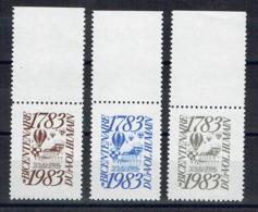 FRANCE - 1983 - 1783 - Bicentenaire Du Vol Humain - 3 Couleurs Différentes. - Commemorative Labels