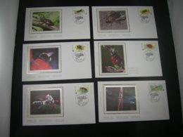"""BELG.1996 2630 2631 2632 2633 2634 & 2635 FDC's Soie/zijde (Wepion) : """" Natuur,insecten /Nature,Insectes """" - FDC"""