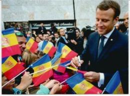 Visite Du President Macron , Co-Prince D'Andorre,  Septembre 2019.  De Gaulle Co-Prince Au Dos, Avec Cachet Andorre - Unclassified