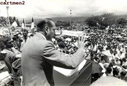GRANDE PHOTOGRAPHIE JACQUES CHIRAC  A LA REUNION SAINT-DENIS-DE-LA-REUNION POLITIQUE PRESIDENT FRANCAIS - Personalità