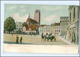 U8523-239./ Wismar Markt Mit Marienkirche Pferdekutsche 1941 AK - Deutschland