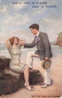 """""""Couple. The Sea Hath Its Charms!"""""""" Tuck Oilette Pebles Of The Beach Ser. PC # 9954 - Tuck, Raphael"""