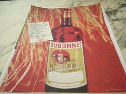 ANCIENNE PUBLICITE DUBONNET VIN TONIQUE 1961 - Alcohols