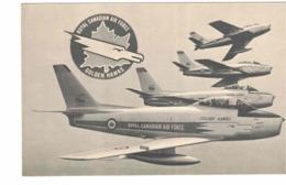 """Royal Canadian Air Force """"GOLDEN HAWKS"""" Aerobatics Team, Old Litho. Postcard, RCAF - 1946-....: Ere Moderne"""
