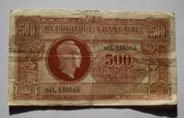 500 FRANCS 1945 MARIANNE. BILLET. BANKNOTE. - 1871-1952 Antichi Franchi Circolanti Nel XX Secolo
