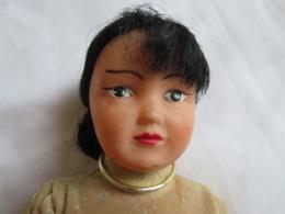 Poupée Ancienne En Celluloid Début XXè Type Viet-Nam - Dolls