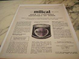 ANCIENNE PUBLICITE  REPAS  REPOS MILICAL 1961 - Posters