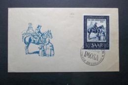 Saar/France: 1952 UnAd. Ca-FDC (#UT10) - France (former Colonies & Protectorates)