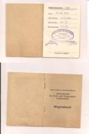 Mitgliedsbuch Gewerkschaft Der Post - Und Telegraphenbediensteten - 1.9.1945 - Organizations