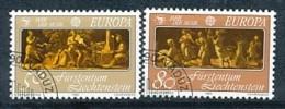 """FÜRSTENTUM LIECHTENSTEIN Mi.Nr. 866-867 EUROPA CEPT """" Europäisches Jahr Der Musik """" 1985 - Used - Europa-CEPT"""