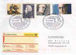 7279  Franc-maçonnerie: Oblit. Temp. D'Allemagne, 1999 -  Freemasonry Pictorial Cancel From Frankfurt, Germany - Vrijmetselarij