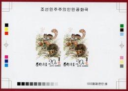 Korea 1993 SC #3233, Deluxe Proof, Squirrel & Chestnut - Rongeurs