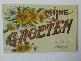 1911 CP Brillante Et Colorée Mijne Groeten Uit Cluysen Kluizen Evergem - Evergem