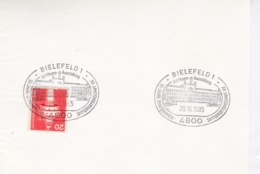 BRD Mi: 848 Leuchtturm . K Stempel: 4800 Bielefeld 1. 50 Jahre Briefmarken-Sammlergemeinschaft E.V. 20.10.1985 - [7] République Fédérale