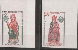 ANDORRA FRANCESA// FRENCH ANDORRA// FRANÇAIS ANDORRA - EUROPA 1974 - SERIE  2 V.-  SIN DENTAR  LUJO (IMPERFORATED) - 1974