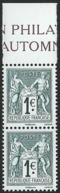 France - 140 Ans Du Type Sage 1876 2016 - Bande De Deux Neuve ** 5094 5095 - N Sous U Et N Sous B - Francia