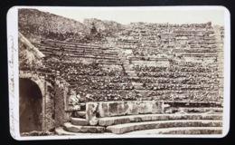 POMPÉI Photo Ancienne Format CDV 1870 Italie Théâtre Comique - Foto