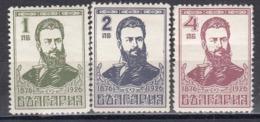 Bulgaria 1926 - Christo Botev, Poete, YT 193/95, MNH** - 1909-45 Kingdom